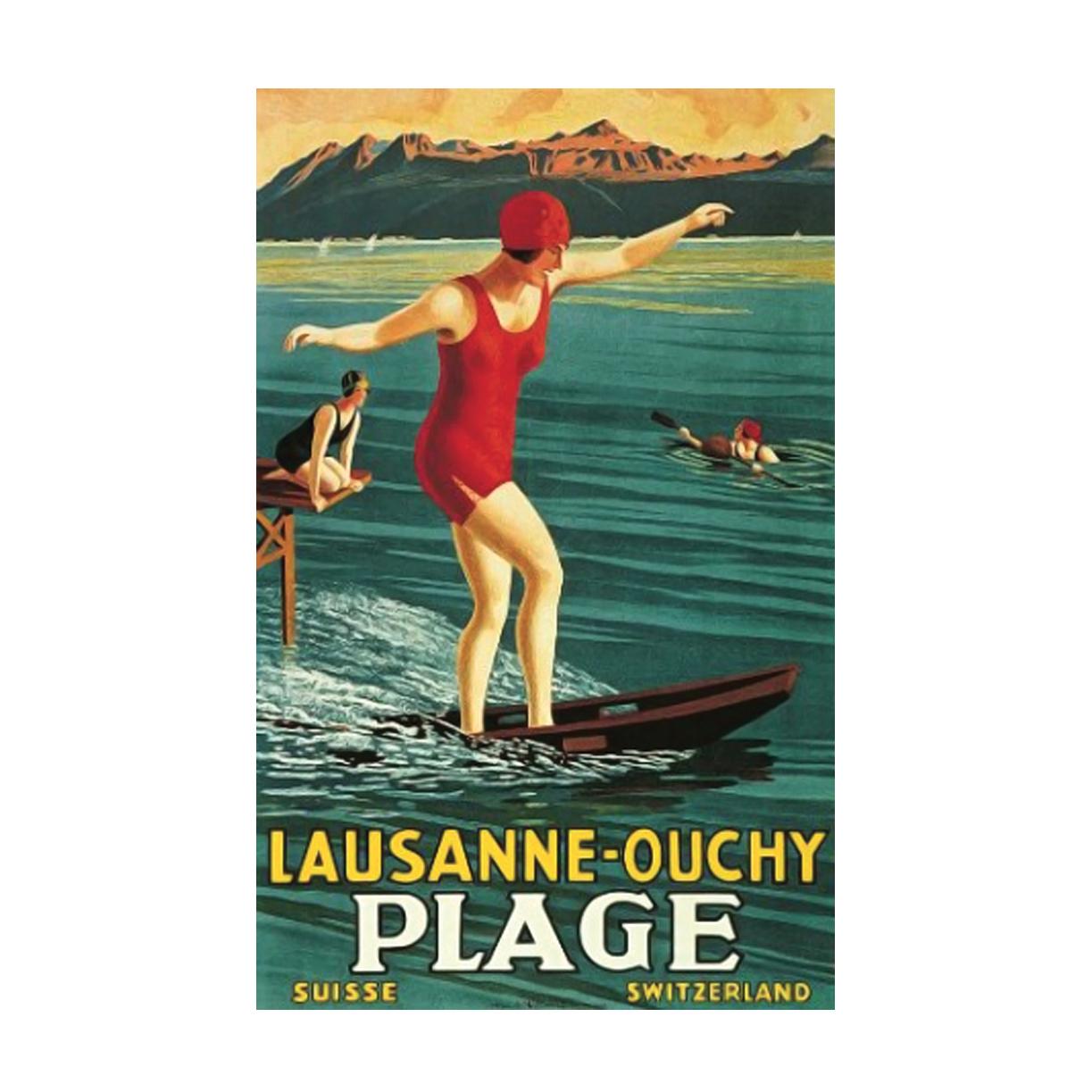 Salle De Bain Bicarbonate Vinaigre ~ Poster Vintage Lausanne Ouchy Everydaydesign